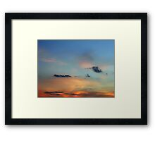 ©HCS Orange Glow And Black Clouds IA. Framed Print