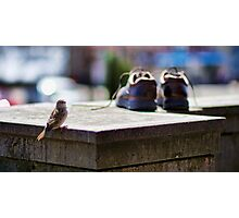 Bird and Boots Photographic Print