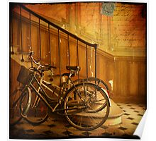 Bikes in a Parisian Foyer Poster