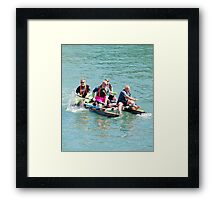 Paddle away boys Framed Print