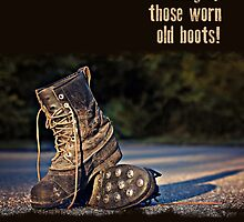 Old Work Boots - Retirement Card by Tracy Friesen