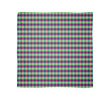 Glowing Plaid Pattern Scarf