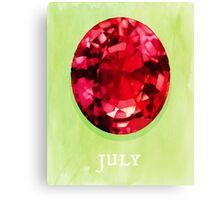 Watercolor Birthstone Gems, July Canvas Print