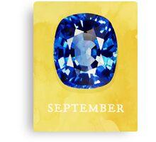 Watercolor Birthstone Gems, September Canvas Print