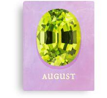 Watercolor Birthstone Gems, August Canvas Print