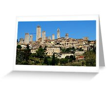 Manhattan of tuscany. Greeting Card
