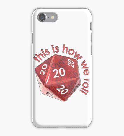 How we roll 20s iPhone Case/Skin