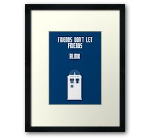 Friends Series - Doctor Who Framed Print
