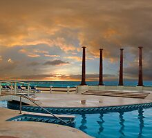 Sunrise at the hotel Krystal. Cancun. Mexico by vadim19