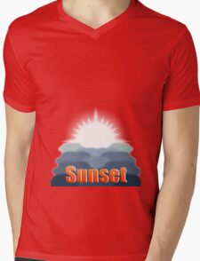 Day to Night (Sunset) Mens V-Neck T-Shirt