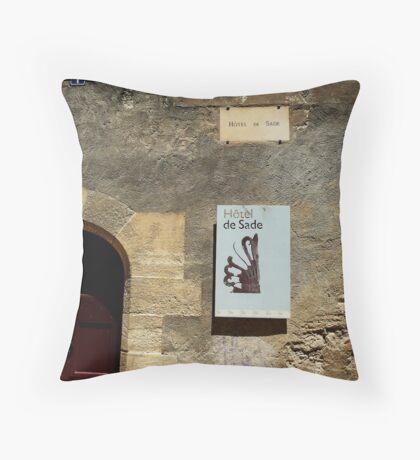 Hotel De Sade Throw Pillow