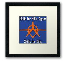 Crackdown - Skills for Kills Framed Print