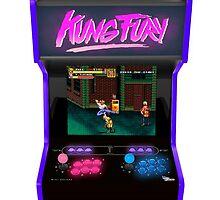 kung fury arcade videogame streets of rage sega retro 80s vintage by daani