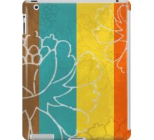 Chinese Flowers & Stripes - Orange Yellow Turquoise Brown iPad Case/Skin