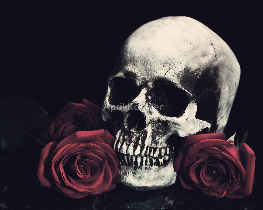 Skull and Roses by April Koehler
