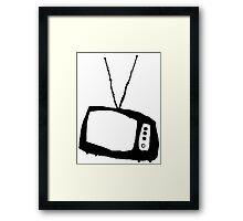 TV Vintage Framed Print