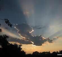 Sunset with God's Rays Tonight ~ 8-10-10 by Debbie Robbins