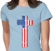 UNITED STATES OF JESUS Womens Fitted T-Shirt
