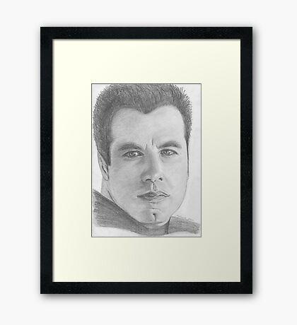 John Travolta Framed Print