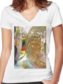 What colour is the Wind? Women's Fitted V-Neck T-Shirt