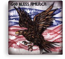 American Eagle in Flight  Canvas Print
