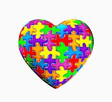Autism awareness puzzle heart Unisex T-Shirt