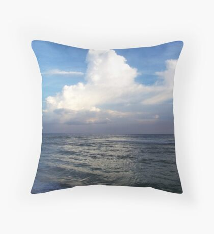 when the HEAVENS touch the sea II Throw Pillow