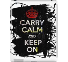 Carry Calm and Keep On iPad Case/Skin
