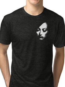 Joan Crawford face Tri-blend T-Shirt