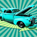 40&#x27;s Coupe Retro Art by bicyclegirl