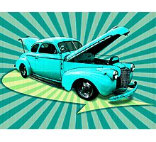 40's Coupe Retro Art Photographic Print