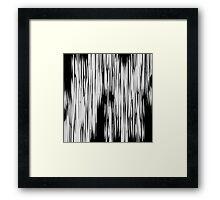 Modern Black & White Abstract Shards Framed Print