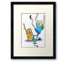 Finn, Jake & BMO Dancing Framed Print