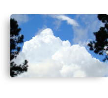 Trees and Clouds Canvas Print