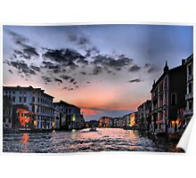 Grand Canal at sunset Poster