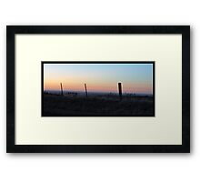Fence - One Tree Hill Framed Print