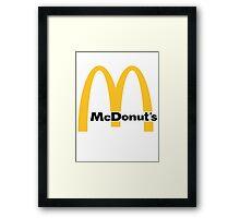 Mcdonald's Donut Framed Print