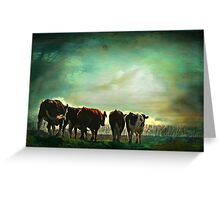 """Off to Greener Pastures ..."" Greeting Card"