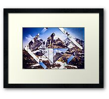 Geometric Mountainous Landscape Framed Print