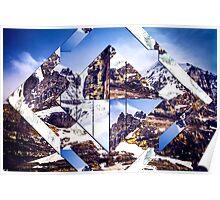 Geometric Mountainous Landscape Poster