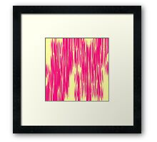 Modern Pink & Yellow Abstract Shards Framed Print