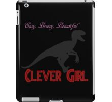 Easy, breezy, beautiful - Clever Girl iPad Case/Skin