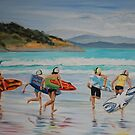 Surf Carnival by Jen  Biscoe