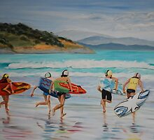 Surf Carnival by Jen  Biscoe