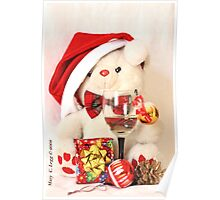 Mr Teddy Bear celebrates Christmas Poster