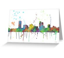 Milwaukee, Wisconson Skyline Greeting Card