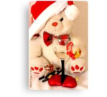 Romantic Christmas for Mr Teddy Bear Canvas Print