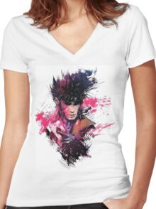 Gambit Women's Fitted V-Neck T-Shirt