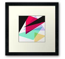 Contemporary Geometric Triangles Framed Print