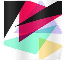 Contemporary Geometric Triangles Poster